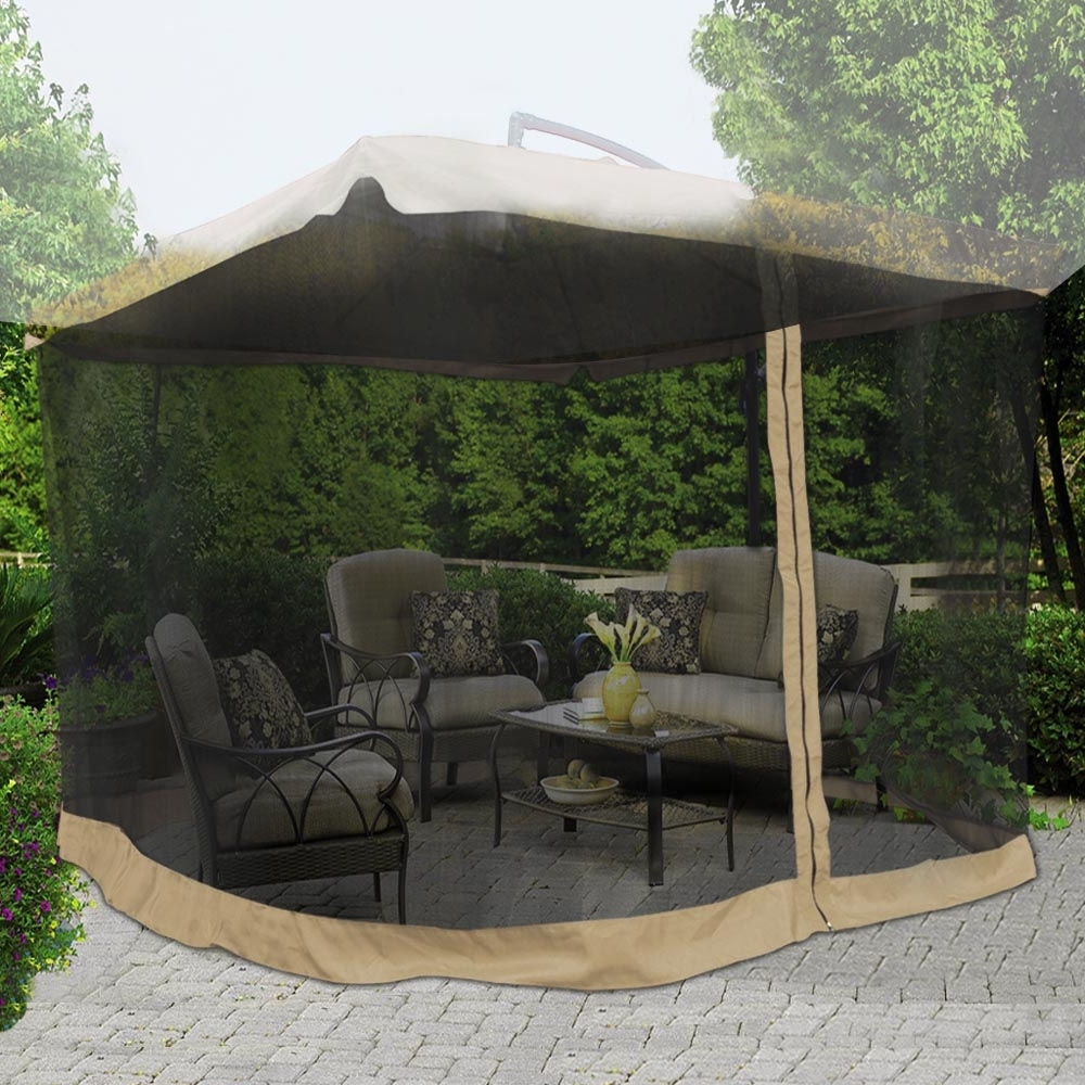 Yescom 9Ft Umbrella Mosquito Net Outdoor Patio Mesh Screen Anti Within 2018 Patio Umbrellas With Netting (Gallery 2 of 20)