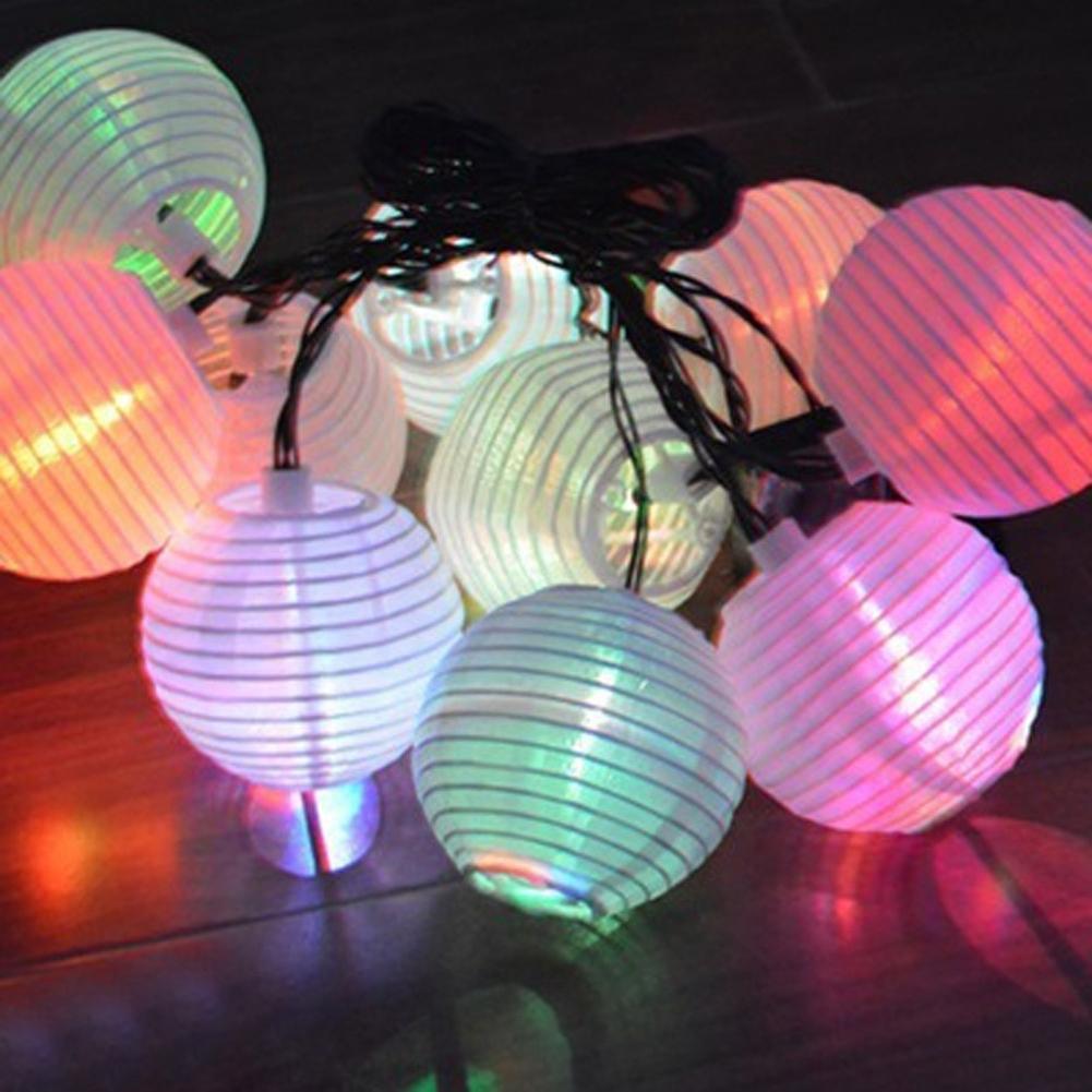 10 Led Solar Chinese Hanging Lantern String Outdoor Garden Yard Lamp Regarding Popular Outdoor Hanging Lanterns For Trees (Gallery 13 of 20)