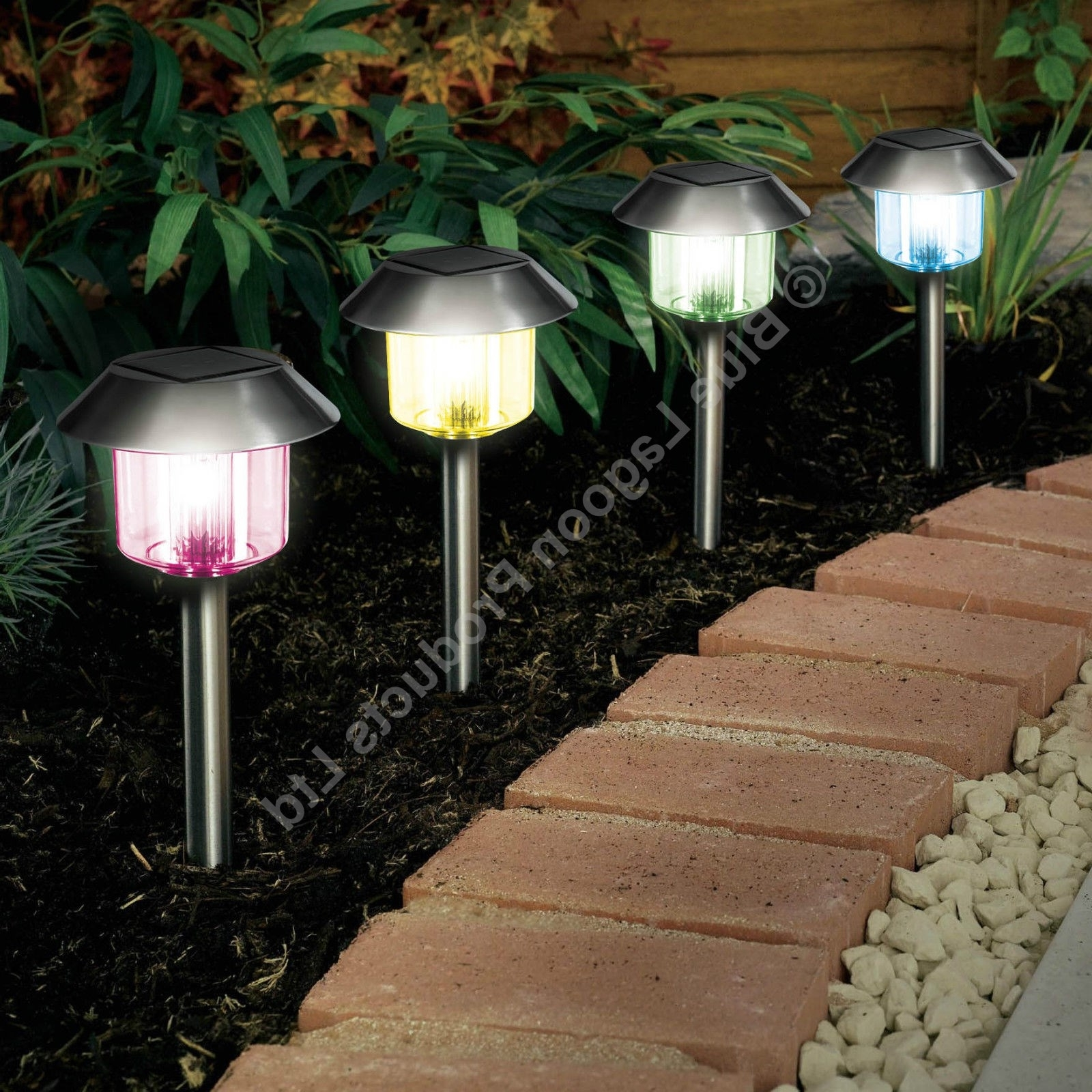 10 Pack X Colour Changing Solar Power Light Led Post Outdoor Pertaining To Latest Outdoor Lanterns On Post (View 1 of 20)