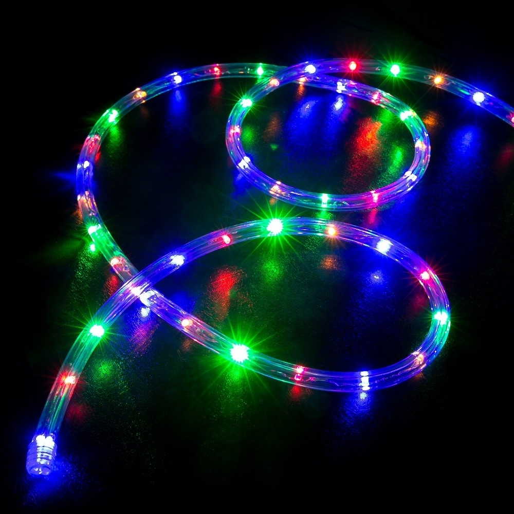 100' Multi Color (Rgb) Led Rope Light – Home Outdoor Christmas With Regard To Preferred Outdoor Christmas Rope Lanterns (View 1 of 20)