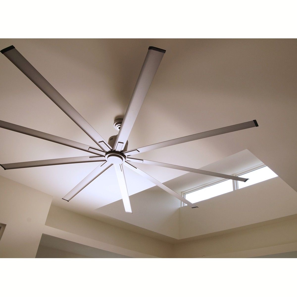 20 72 Ceiling Fan, 72 In 8 Blade Brushed Nickel Led Ceiling Fan With In Famous 72 Predator Bronze Outdoor Ceiling Fans With Light Kit (Gallery 15 of 20)