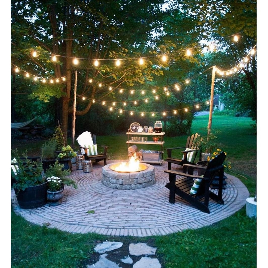 20 Dreamy Ways To Use Outdoor String Lights In Your Backyard For Best And Newest Outdoor Lawn Lanterns (View 1 of 20)
