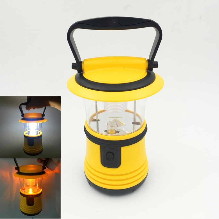2017 Newest Portable Camping Lanterns Tent Light Portable Hanging In Well Known Yellow Outdoor Lanterns (View 1 of 20)