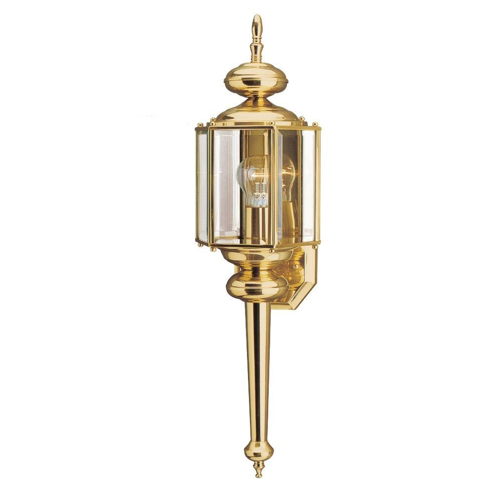 2018 Brass & Gold – Outdoor Lanterns – Outdoor Wall Mounted Lighting Intended For Gold Outdoor Lanterns (Gallery 5 of 20)