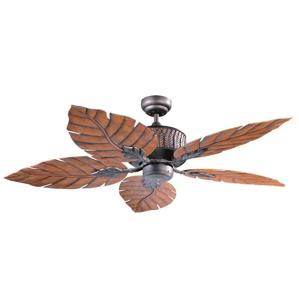 2018 Designers Choice Collection Fern Leaf 52 In. Indoor/outdoor Oil Pertaining To Tropical Outdoor Ceiling Fans With Lights (Gallery 13 of 20)