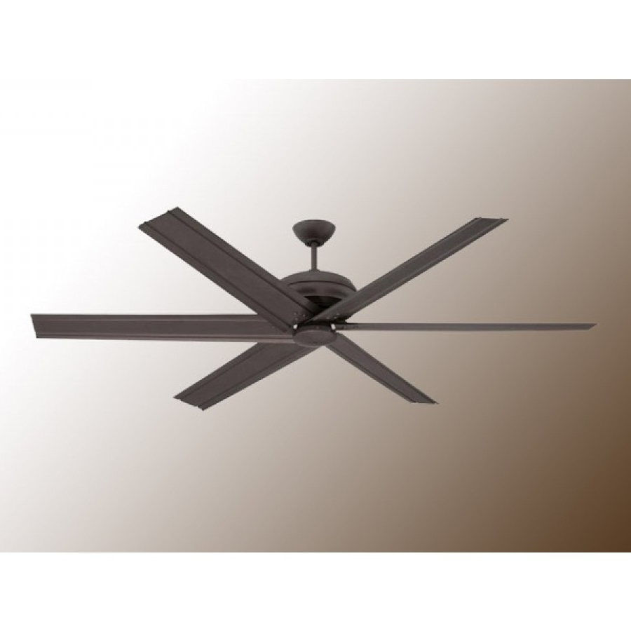 "2018 Ellington Outdoor Ceiling Fans Pertaining To 72"" Colossusellington – Huge Modern Ceiling Fan – 2 Finishes (Gallery 8 of 20)"