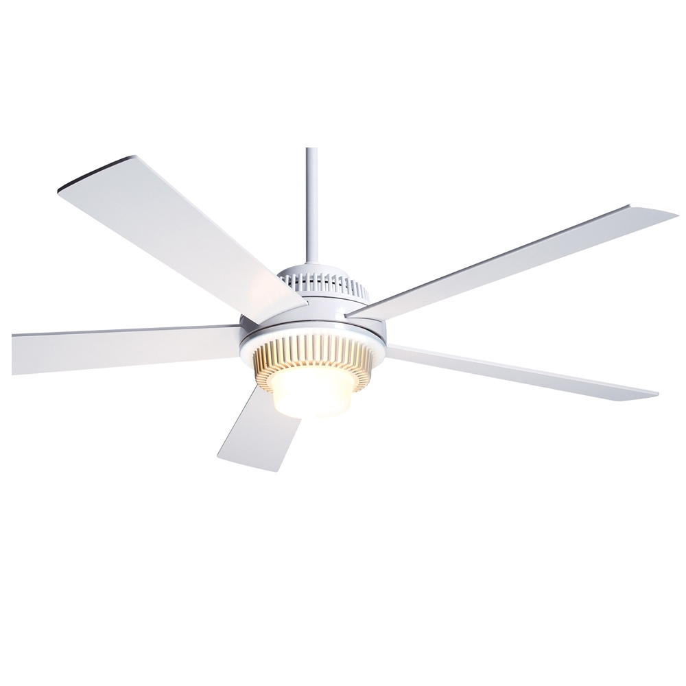 2018 Furniture Idea: Tempting White Modern Ceiling Fan And Solus Fan With Throughout Outdoor Ceiling Fans For Barns (Gallery 18 of 20)