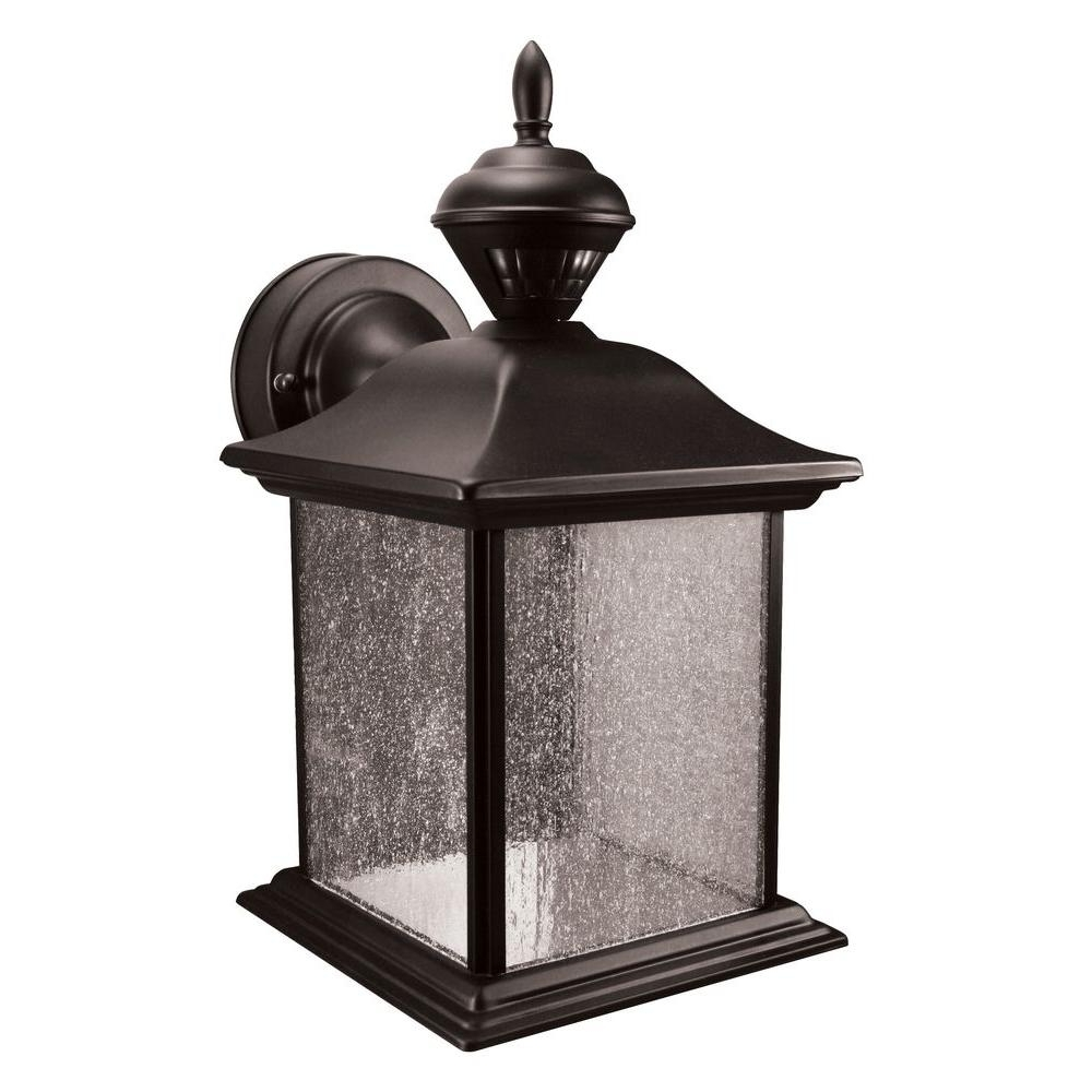 2018 Heath Zenith City Carriage 150 Degree Black Outdoor Motion Sensing With Outdoor Motion Lanterns (View 1 of 20)