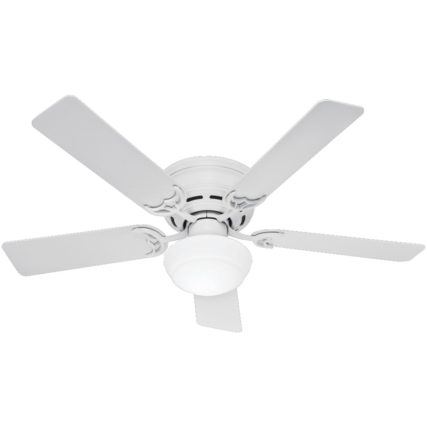 2018 Hunter Outdoor Ceiling Fans With White Lights Inside The Multifunction Hugger Ceiling Fans With Light (View 14 of 20)