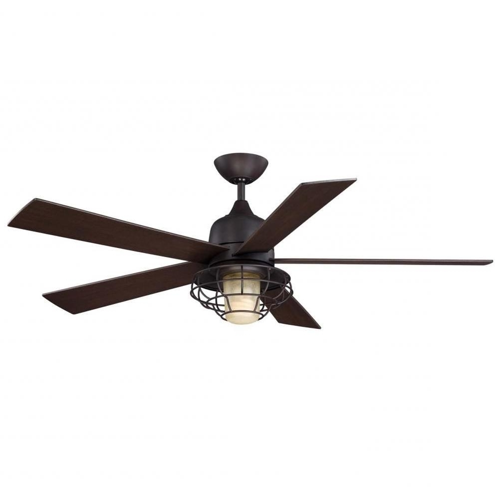 2018 Illumine Gigg 52 In. English Bronze Indoor/outdoor Ceiling Fan Cli Inside Energy Star Outdoor Ceiling Fans With Light (Gallery 5 of 20)