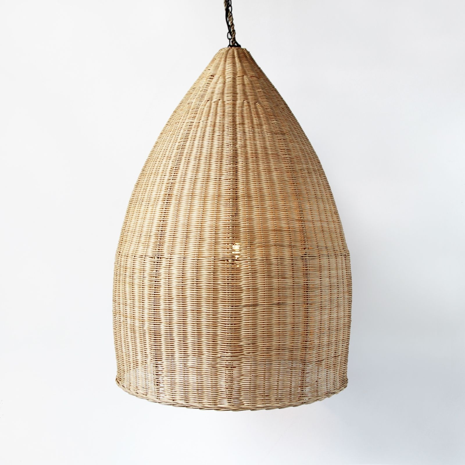 2018 Large Hand Woven Pod Lantern In Natural Raw Rattan. Home Decor. Boho Regarding Outdoor Rattan Lanterns (Gallery 14 of 20)