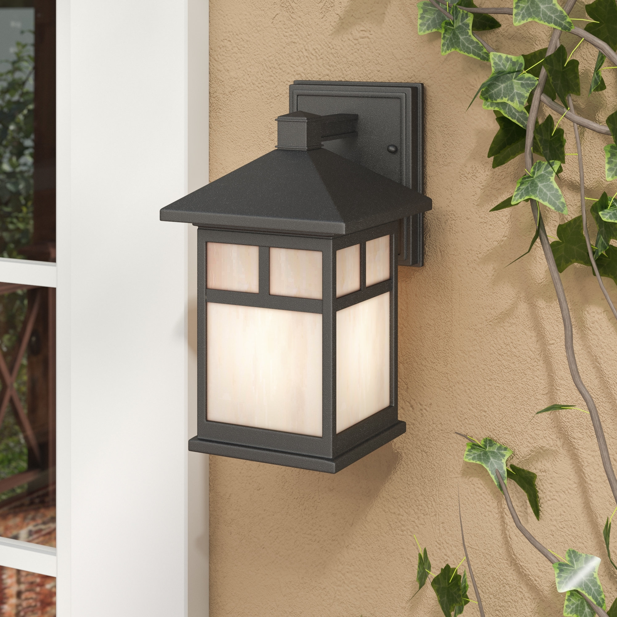 2018 Loon Peak Burtundy 1 Light Outdoor Wall Lantern & Reviews (View 1 of 20)