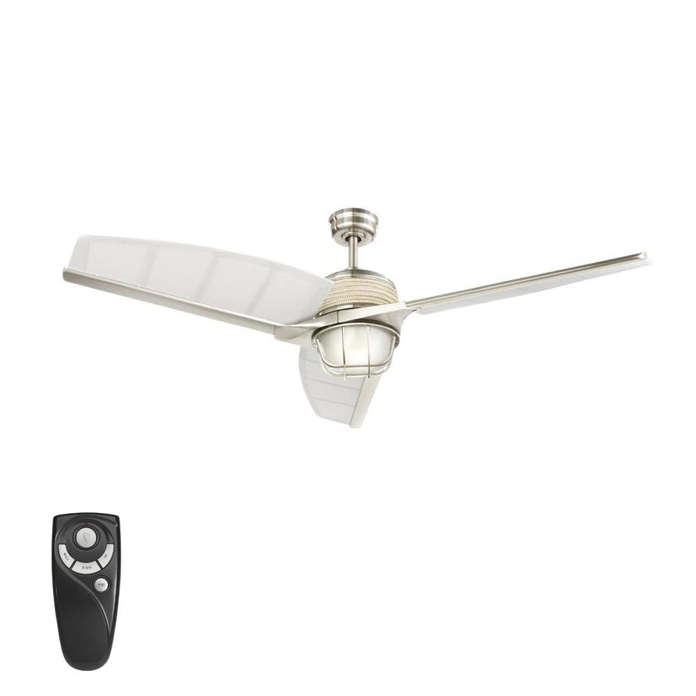 2018 Outdoor Ceiling Fans With Guard With Regard To Home Decorators Collection Escape Ii 60 In (View 2 of 20)