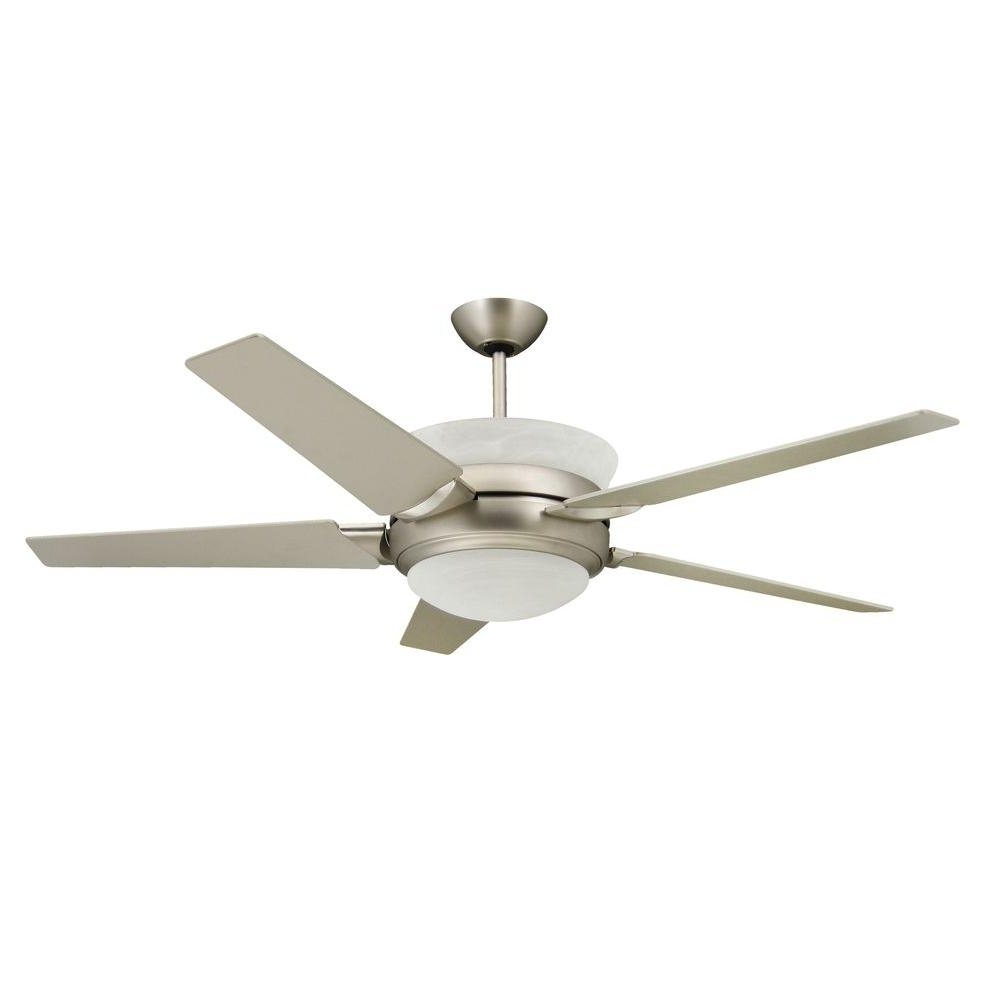 2018 Outdoor Ceiling Fans With Uplights Throughout Troposair Sunrise 56 In. Satin Steel Up Light Ceiling Fan 88600 (Gallery 7 of 20)