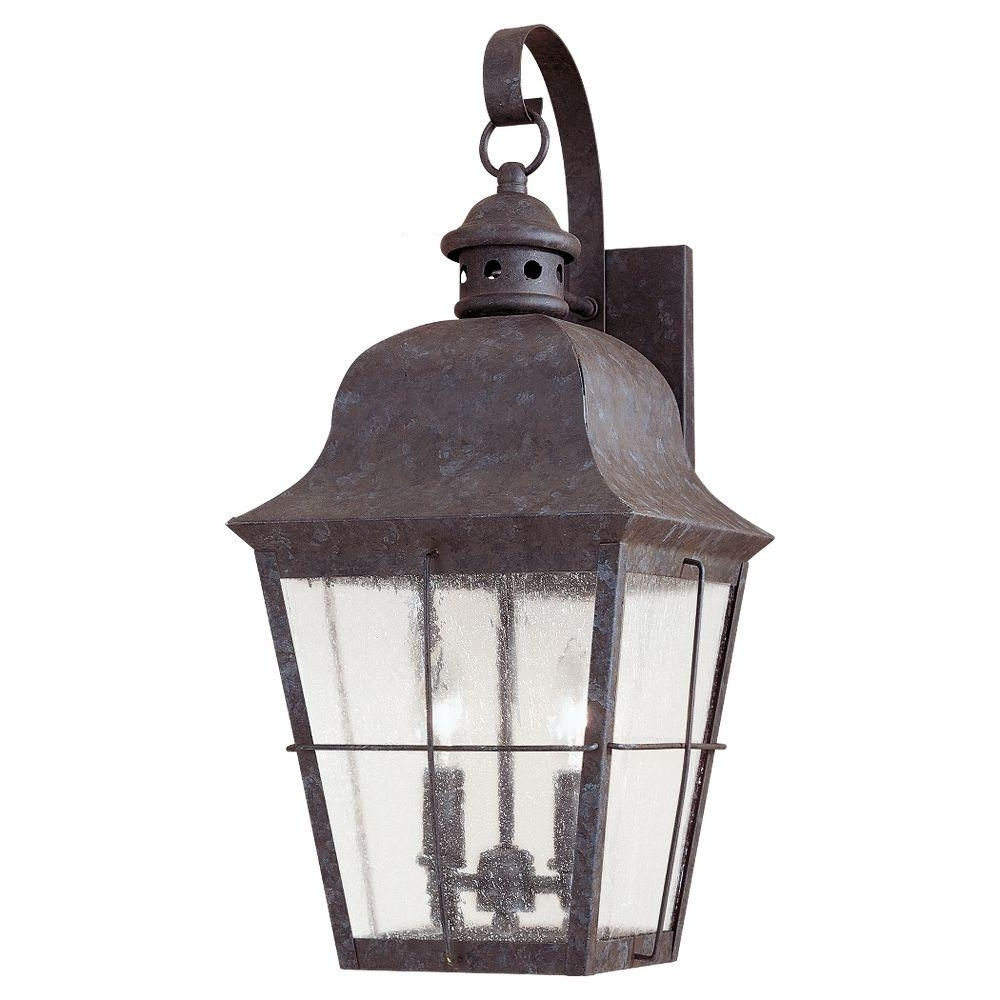 2018 Outdoor Grey Lanterns Throughout Gray – Outdoor Wall Mounted Lighting – Outdoor Lighting – The Home Depot (View 2 of 20)