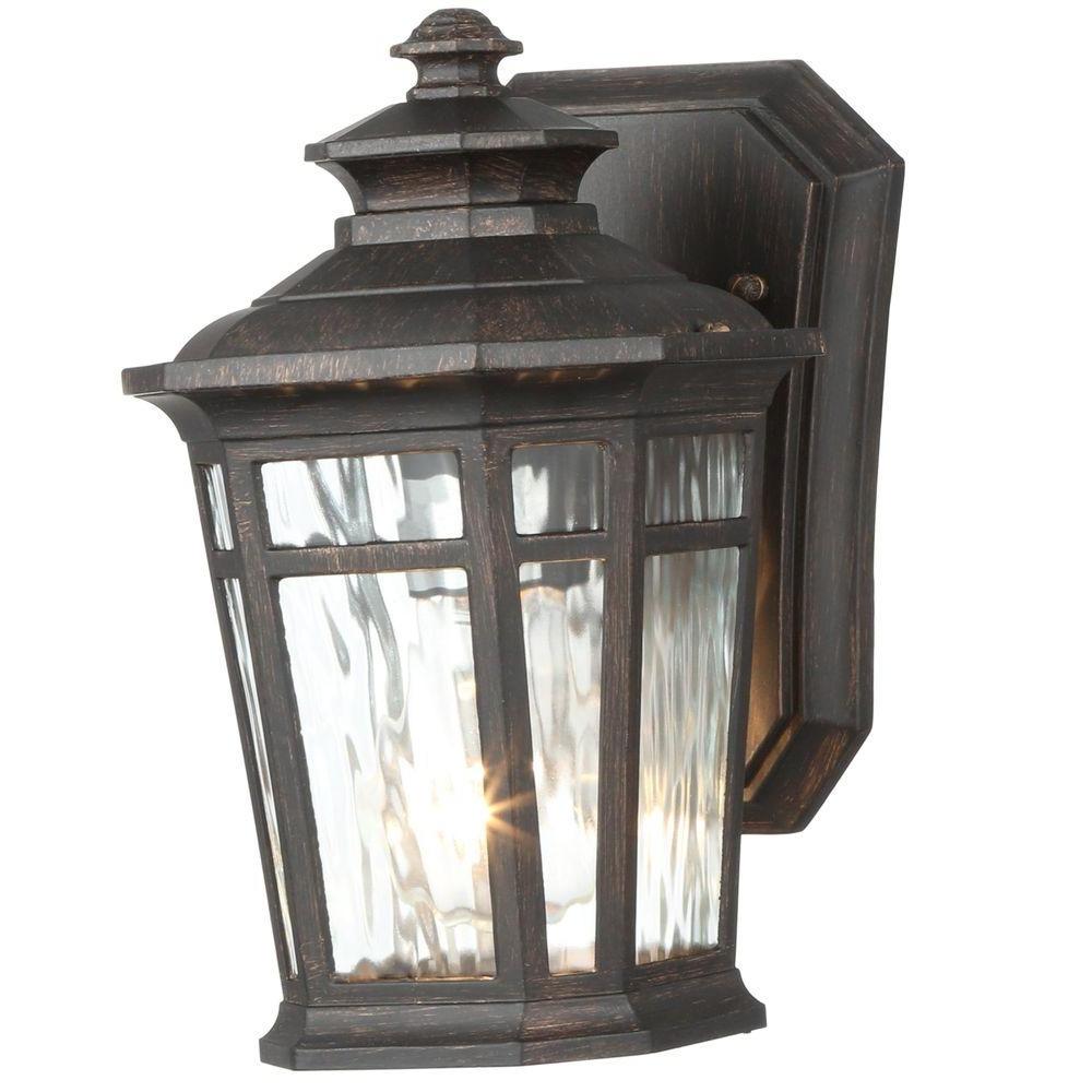 2018 Outdoor Lamp Lanterns Intended For Home Decorators Collection Waterton 1 Light Dark Ridge Bronze (Gallery 5 of 20)
