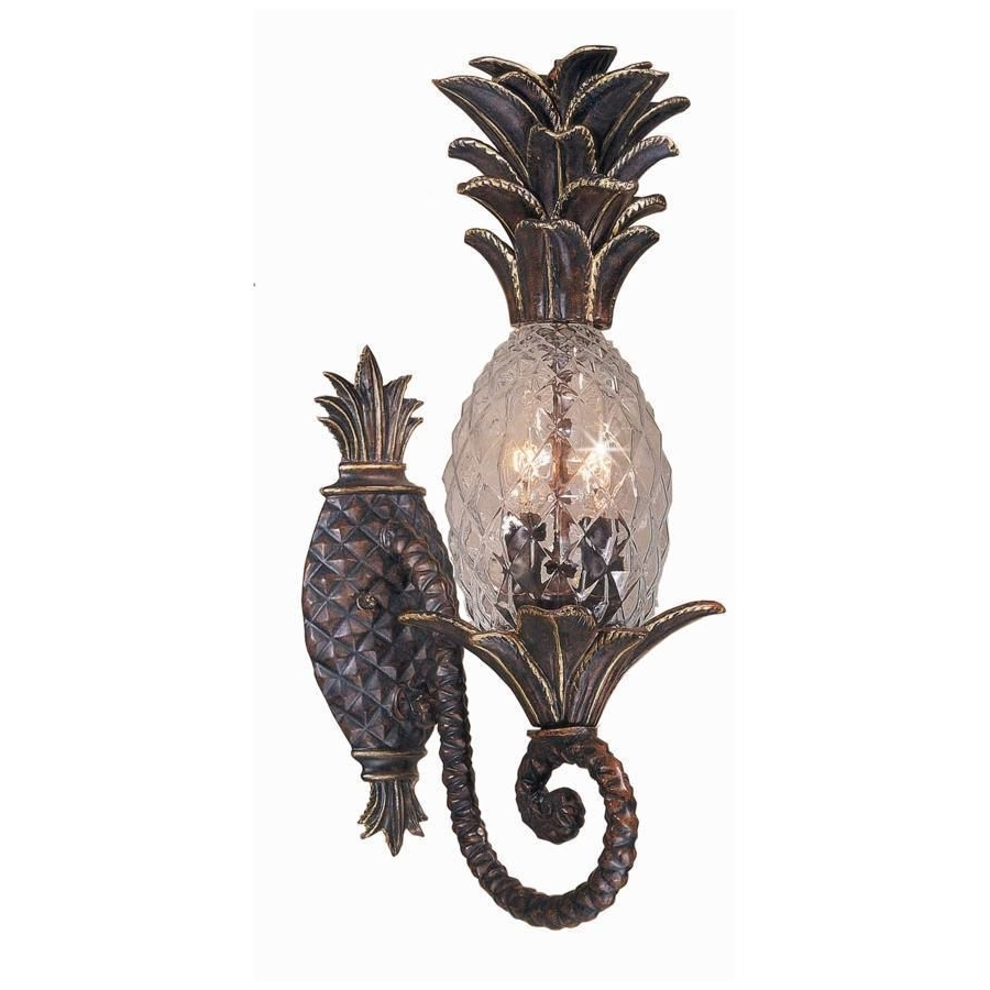 2018 Outdoor Pineapple Lanterns Inside New 2 Light Tropical Outdoor Wall Lamp Lighting Fixture, Bronze (Gallery 18 of 20)