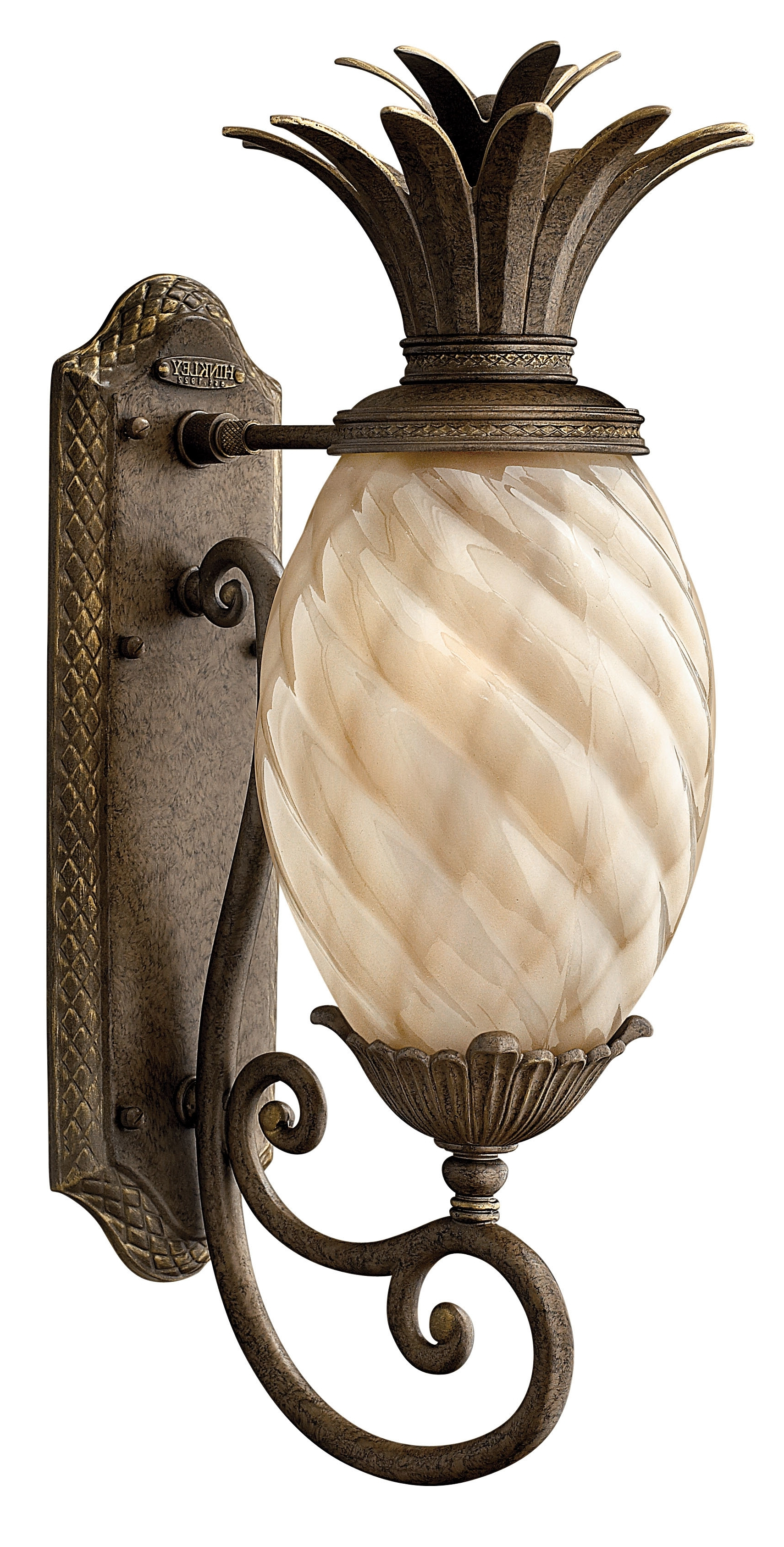 2018 Outdoor Pineapple Lanterns With Beachcrest Home Terry Traditional 1 Light Outdoor Pineapple Shaped (Gallery 17 of 20)