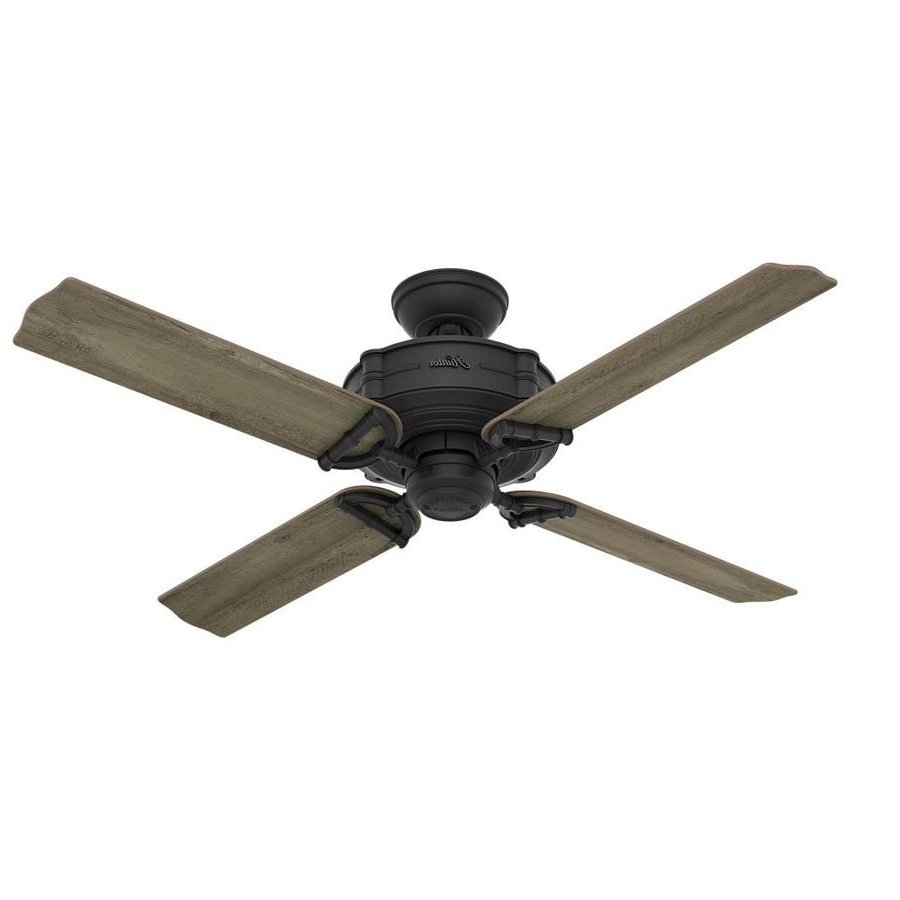 2018 Shop Hunter Brunswick 52 In Natural Iron Indoor/outdoor Ceiling Fan With Outdoor Ceiling Fans By Hunter (View 2 of 20)