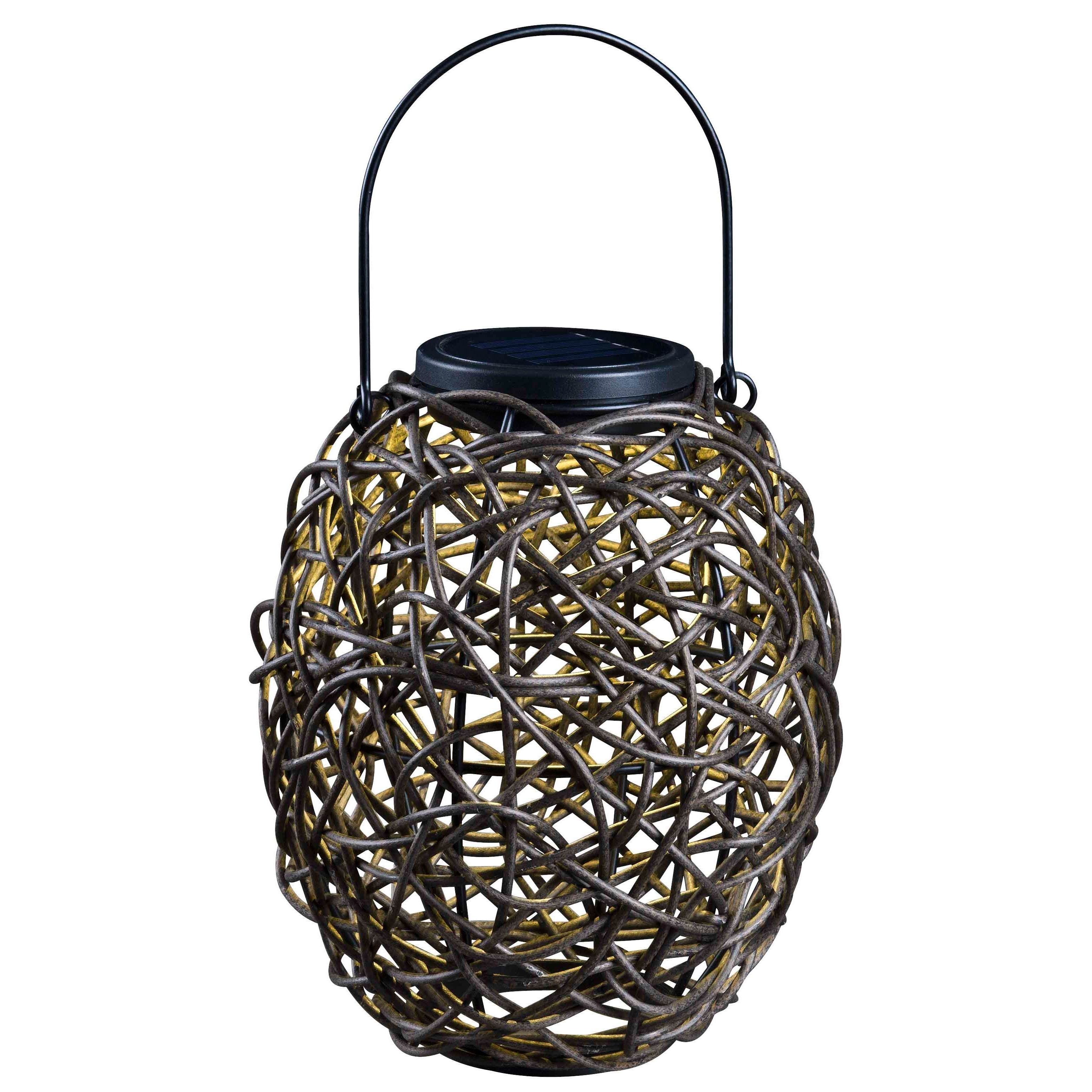2018 This Outdoor Solar Lantern Makes A Great Accent For Any Garden Area Pertaining To Outdoor Rattan Lanterns (Gallery 4 of 20)