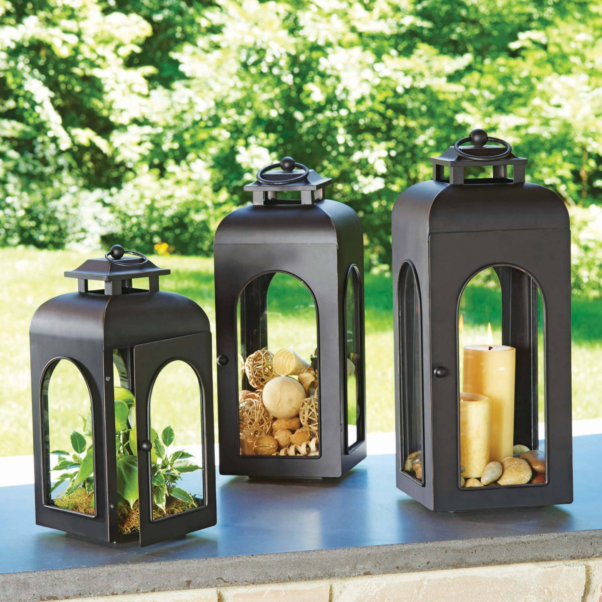 2018 Walmart Outdoor Lanterns Regarding Better Homes And Gardens Domed Metal Outdoor Lantern – Walmart (Gallery 3 of 20)