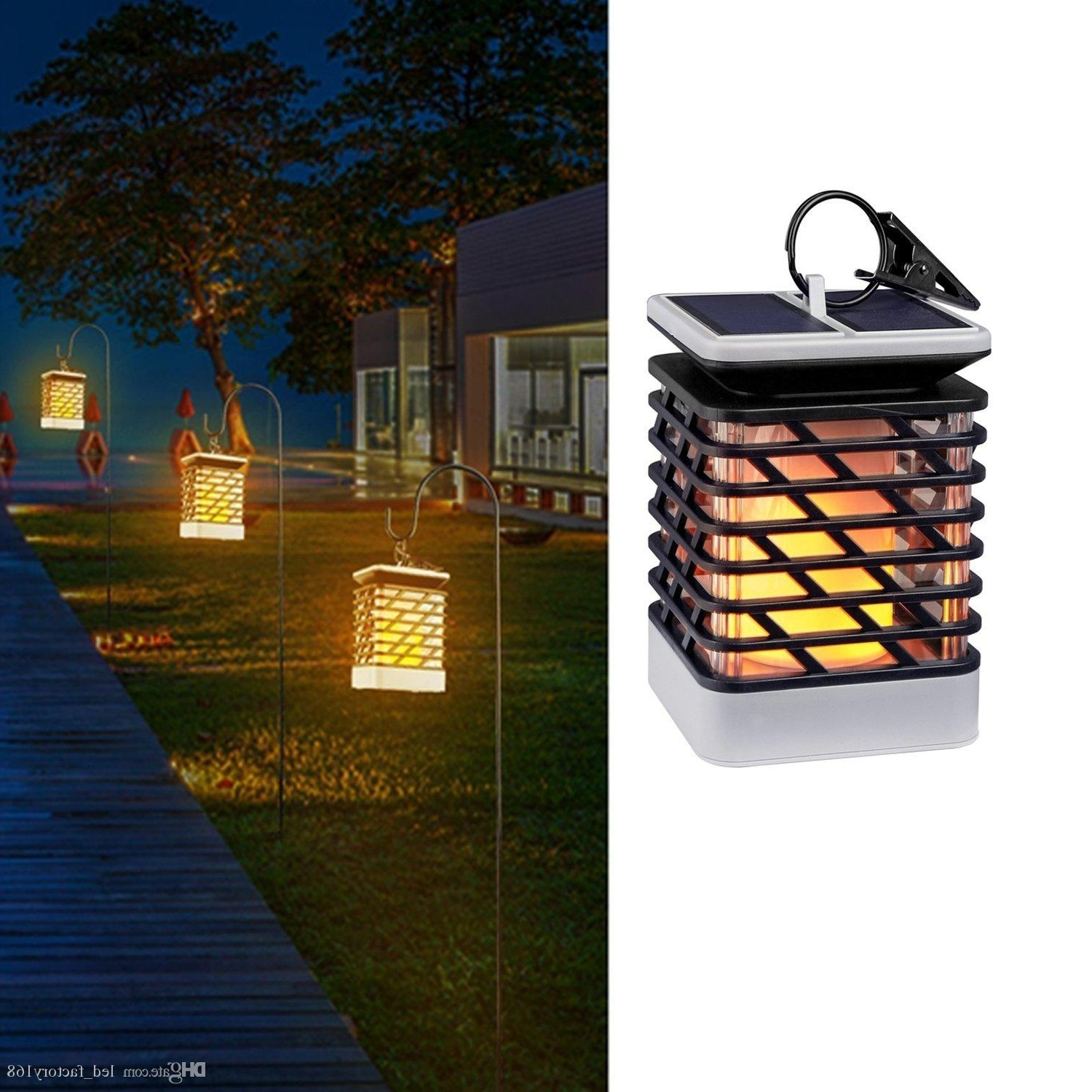 2018 Waterproof Solar Lights Outdoor Led Flickering Flame Torch Inside Trendy Outdoor Ground Lanterns (View 3 of 20)