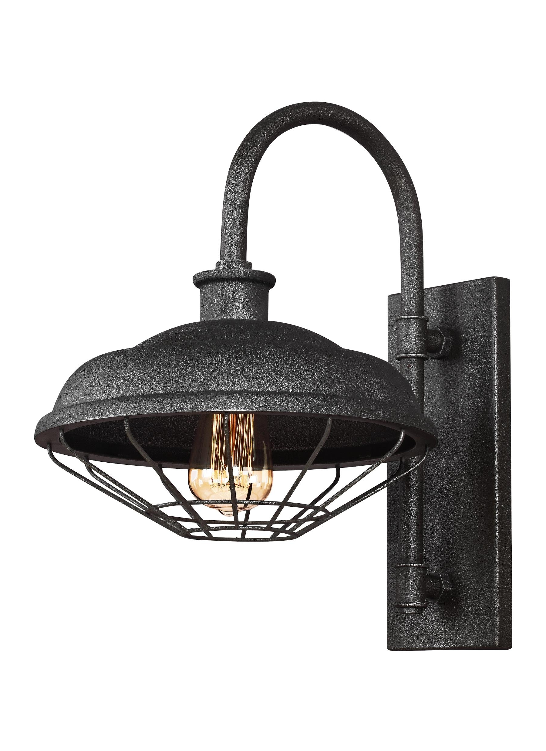 2018 Wb1828sgm,1 – Light Indoor / Outdoor Wall Lantern,slate Grey Metal Intended For Outdoor Grey Lanterns (View 12 of 20)