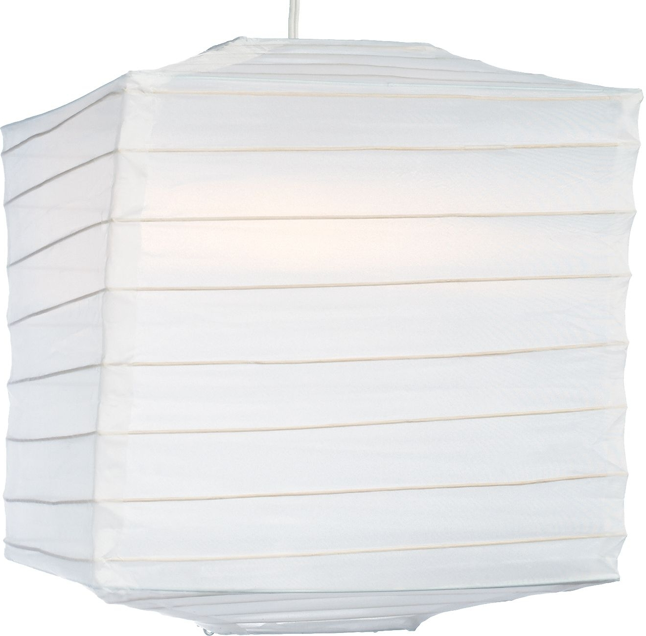 2018 White 10 Inch Square Outdoor Nylon Lantern – Luna Bazaar Regarding Outdoor Nylon Lanterns (Gallery 9 of 20)