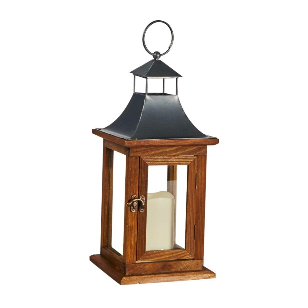 2019 Battery – Outdoor Specialty Lighting – Outdoor Lighting – The Home Depot With Outdoor Battery Lanterns For Patio (Gallery 14 of 20)