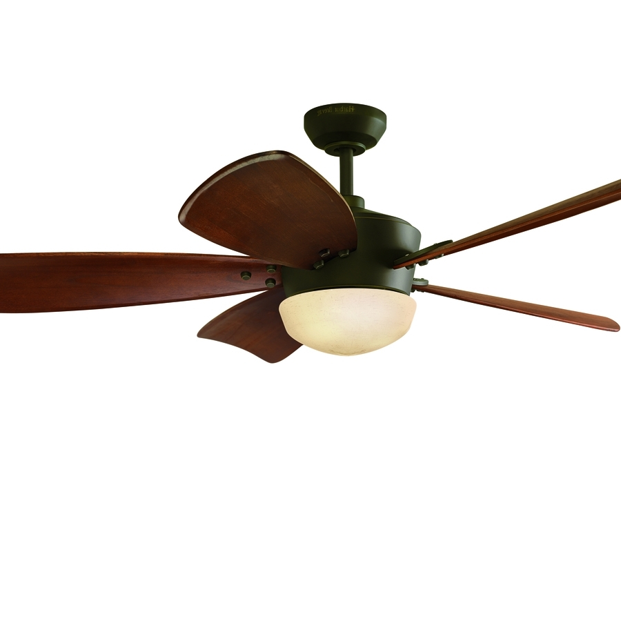 2019 Brown Outdoor Ceiling Fan With Light Throughout Shop Ceiling Fans At Lowes (Gallery 9 of 20)
