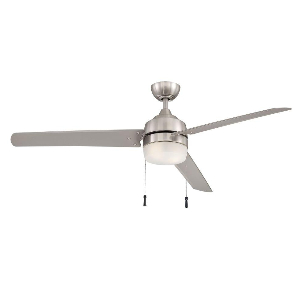 2019 Brushed Nickel Outdoor Ceiling Fans With Light In Home Decorators Collection Carrington 60 In (View 16 of 20)