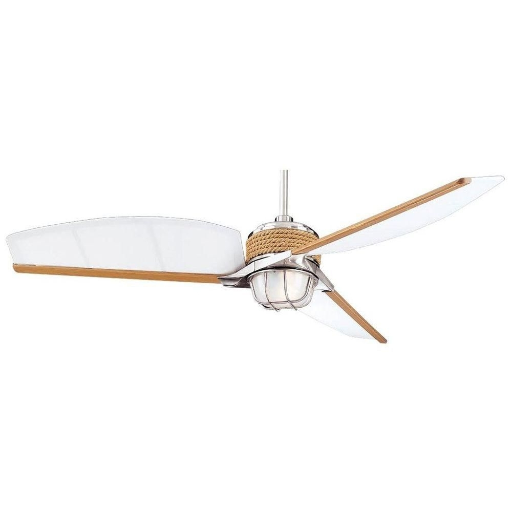 2019 Coastal Outdoor Ceiling Fans Pertaining To $181.30 Sunroom? Hampton Bay Escape 68 In. Indoor/outdoor Brushed (Gallery 15 of 20)