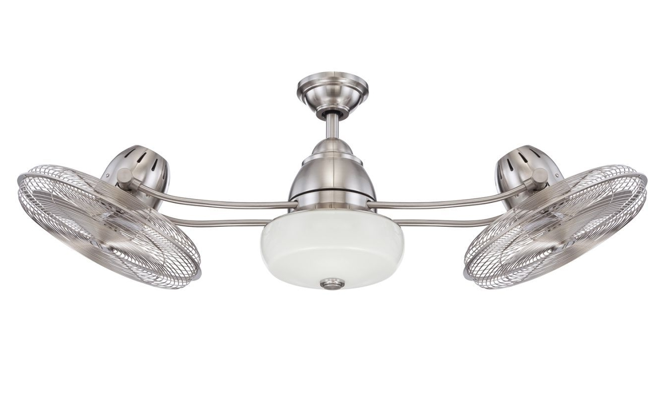 """2019 Craftmade Bellows Ii 48"""" 3 Blade Indoor Ceiling Fan – Blades Remote Inside Stainless Steel Outdoor Ceiling Fans (View 17 of 20)"""
