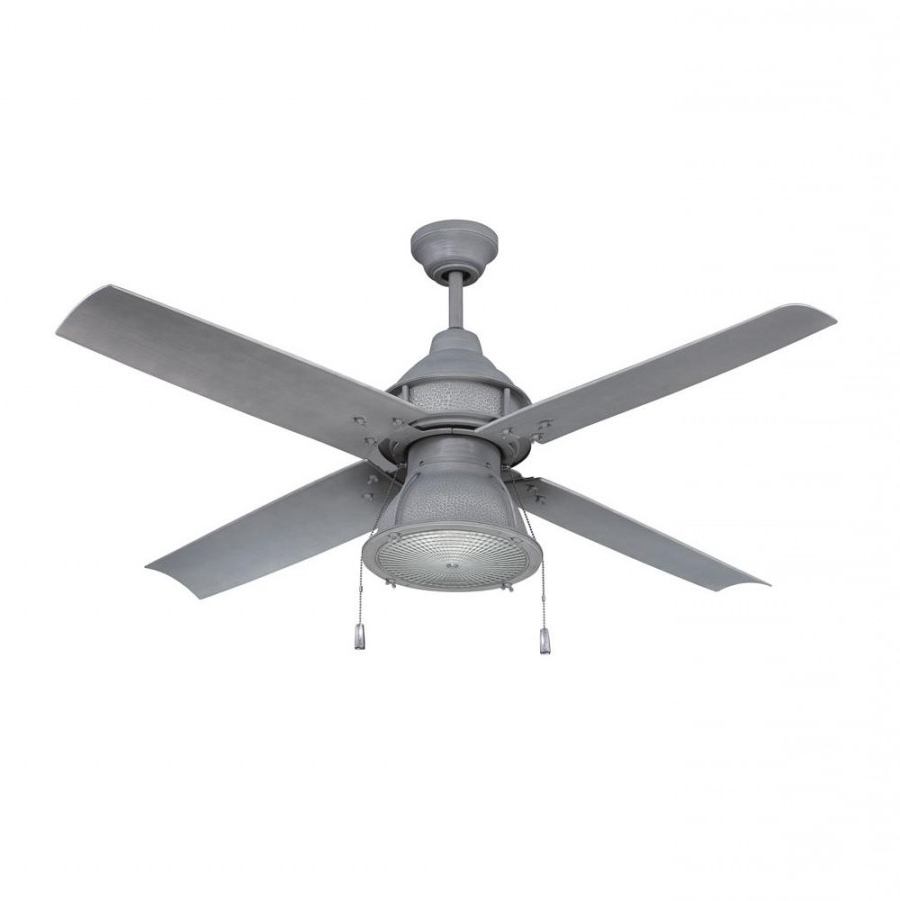 2019 Craftmade Par52Agv4 Port Arbor 1 Led Light 52 Inch Outdoor Ceiling Within Galvanized Outdoor Ceiling Fans With Light (Gallery 14 of 20)
