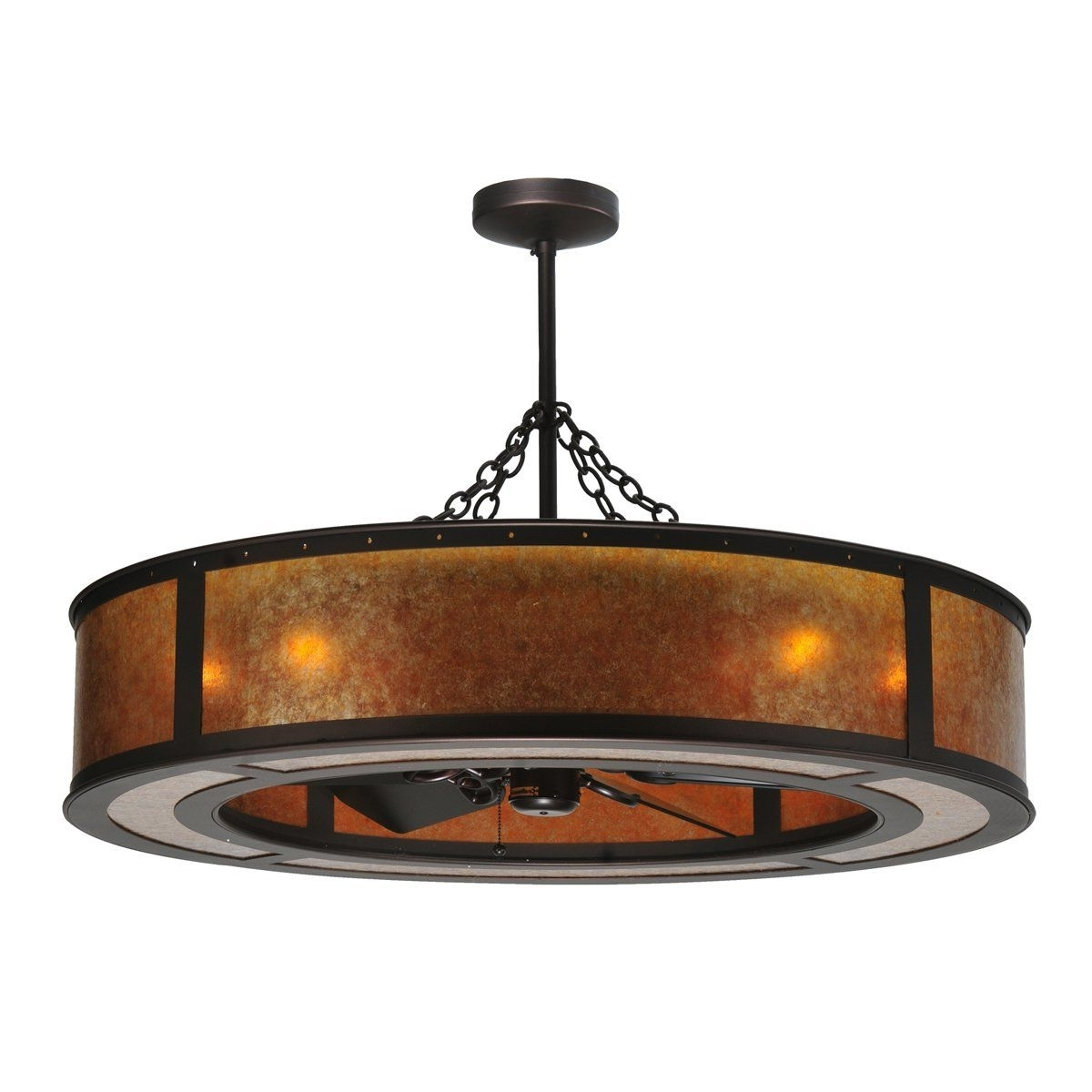 2019 Expensive Outdoor Ceiling Fans Within Meyda Tiffany Custom 108445 8 Light 44In. Smythe Craftsman (Gallery 12 of 20)