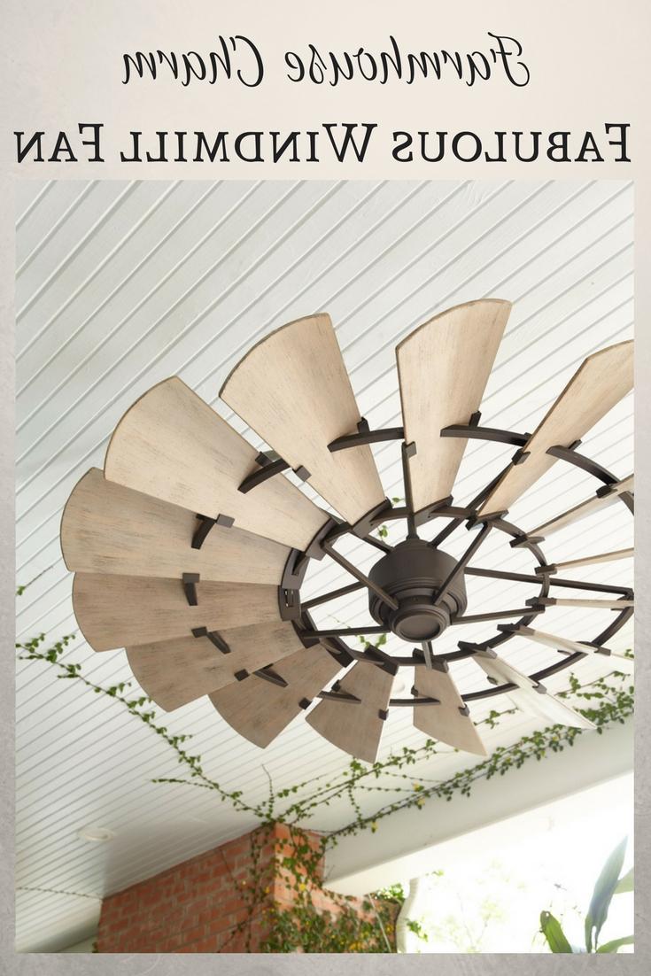 """2019 Fabulous 60"""" Bronze Outdoor Windmill Ceiling Fan. An Authentic Within Outdoor Windmill Ceiling Fans With Light (Gallery 20 of 20)"""