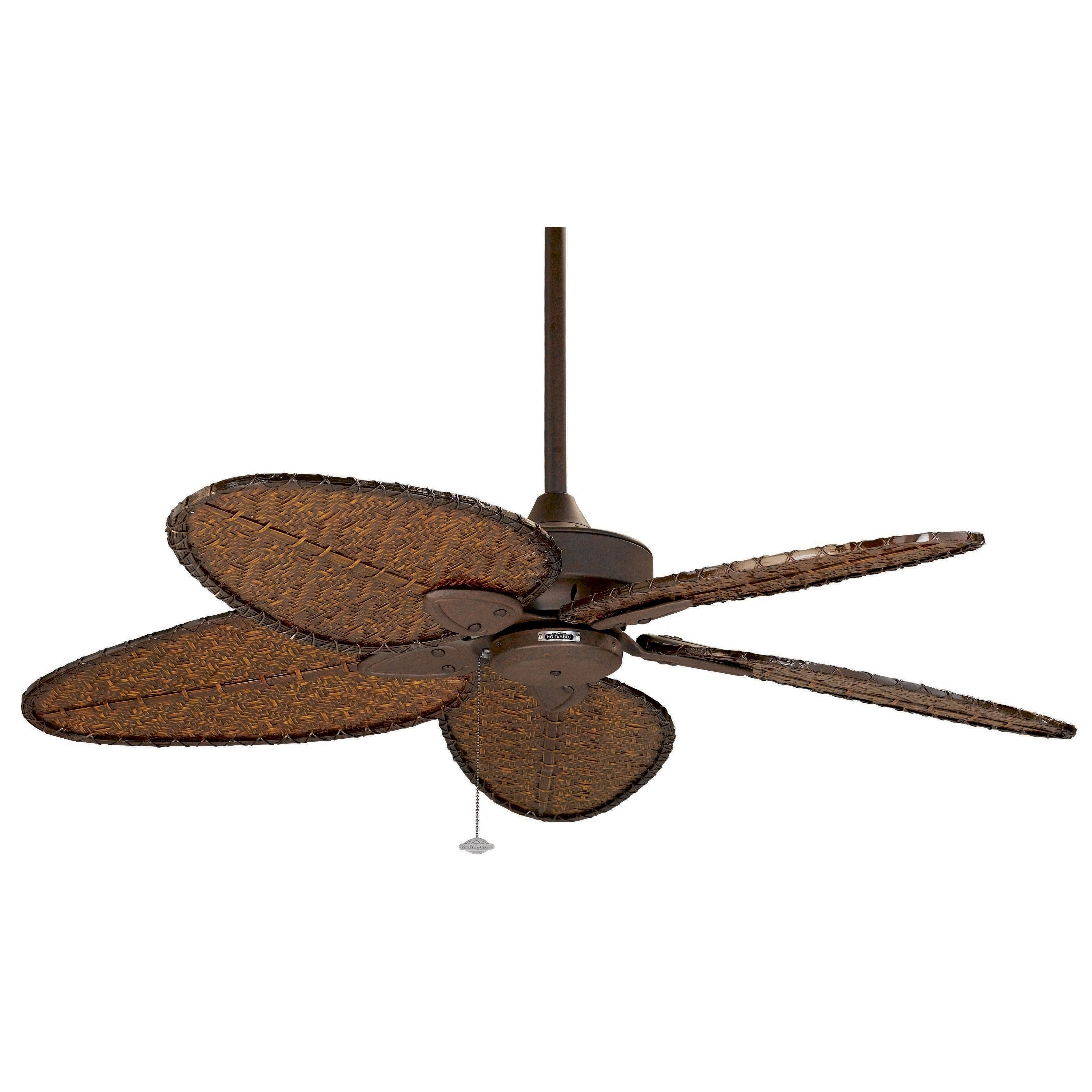 2019 Fanimation Windpointe 52 Inch Rust With Bamboo (green) Blades For Outdoor Ceiling Fans With Bamboo Blades (View 5 of 20)