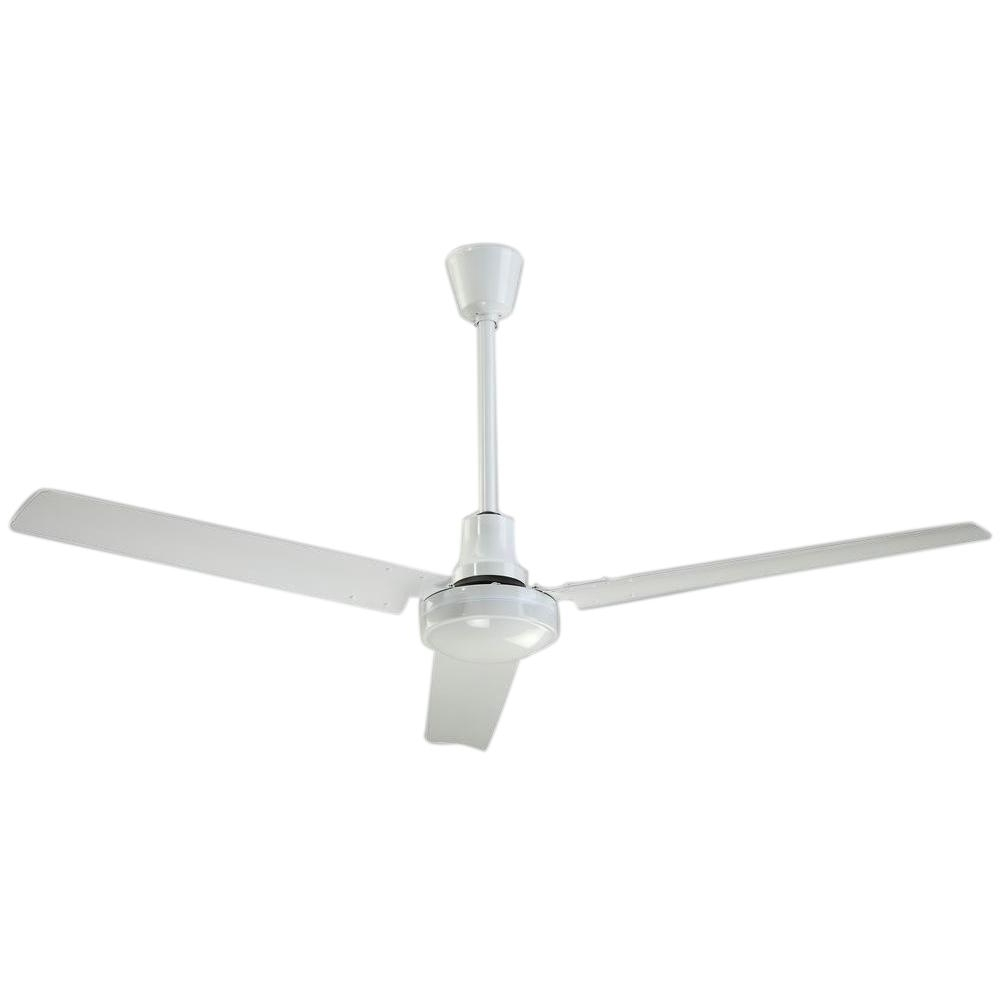 2019 High Volume Outdoor Ceiling Fans Throughout Industrial 56 In. White High Performance Indoor/outdoor Ceiling Fan (Gallery 2 of 20)