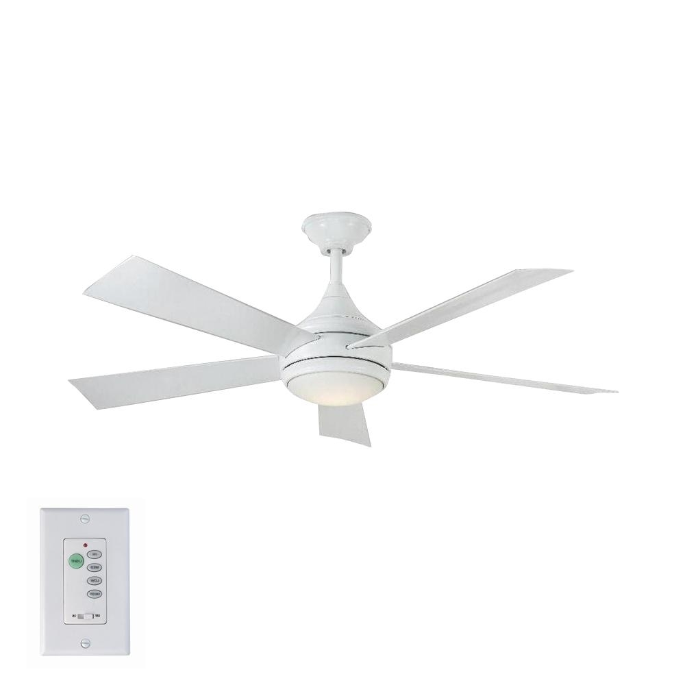 2019 Home Decorators Collection Hanlon 52 In. Led Indoor/outdoor Within Stainless Steel Outdoor Ceiling Fans With Light (Gallery 6 of 20)