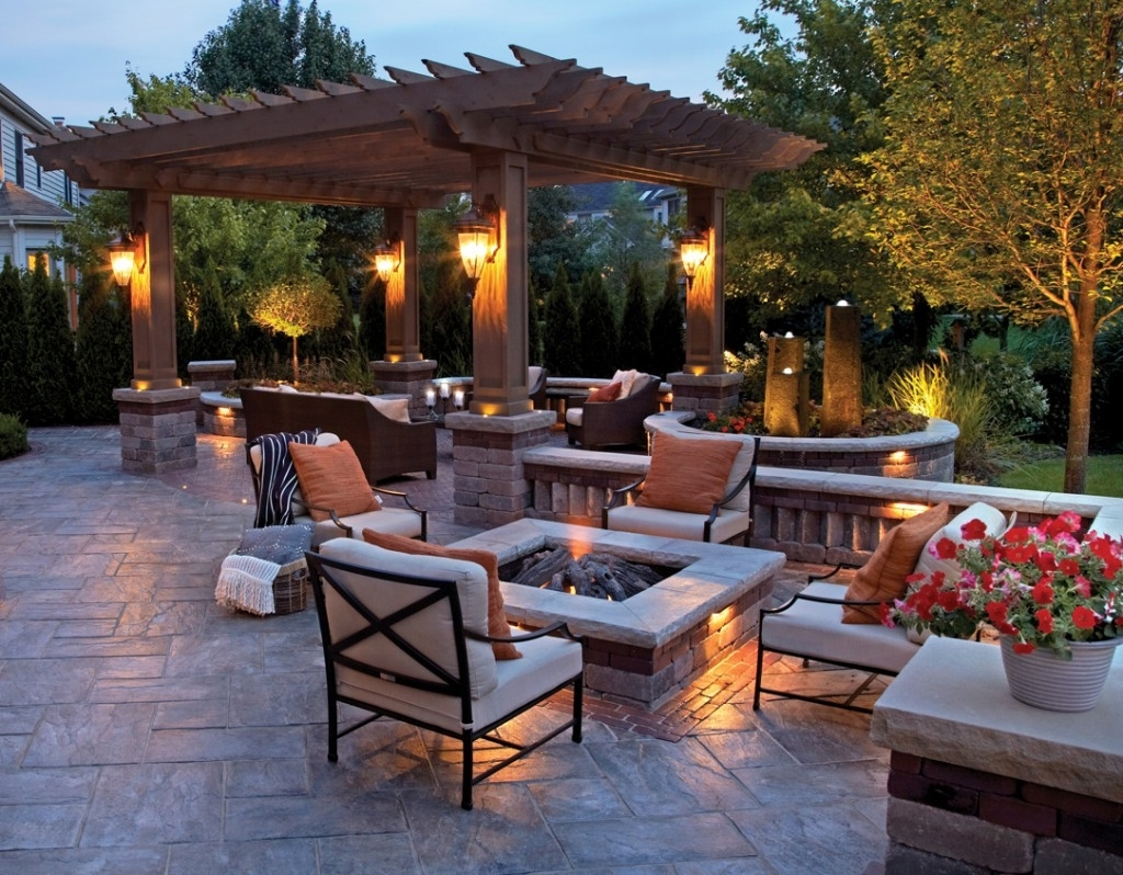 2019 Lighting Ideas: Outdoor Lantern For Patio With Fire Pit Table And Regarding Outdoor Lanterns For Tables (Gallery 15 of 20)
