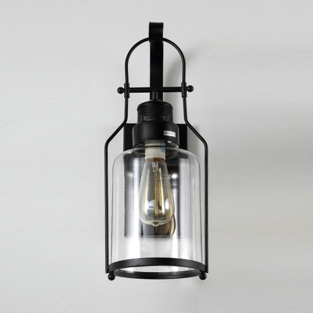 2019 Modern Wall Lamp Glass Cover Light Diy Lighting Cafe Art Home With Regard To Vintage Outdoor Lanterns (Gallery 20 of 20)
