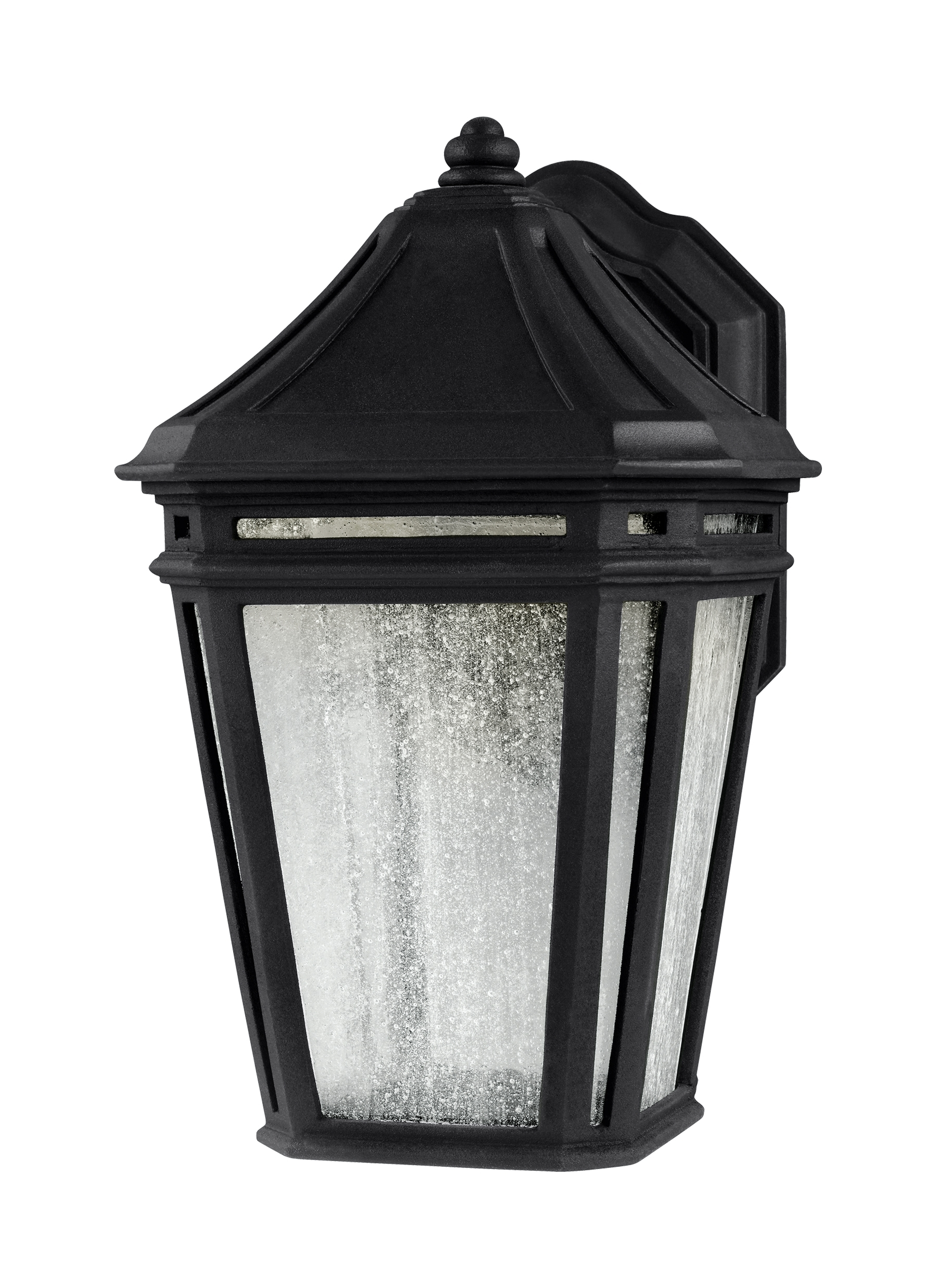 2019 Ol11302Bk Led,led Outdoor Sconce,black With Outdoor Exterior Lanterns (Gallery 10 of 20)