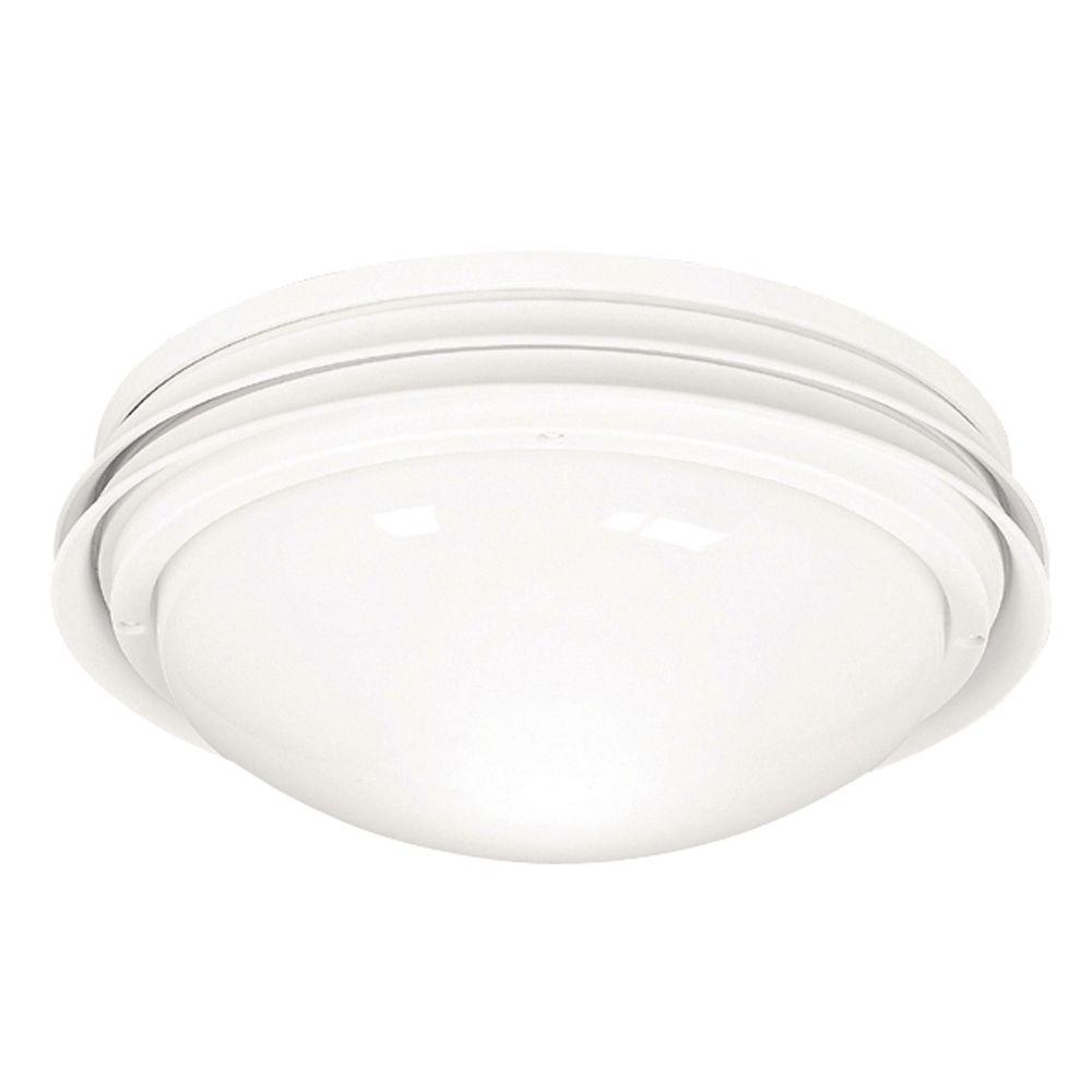 2019 Outdoor Ceiling Fan Light Fixtures Intended For Hunter Marine Ii Outdoor White Ceiling Fan Light Kit 28438 – The (View 3 of 20)