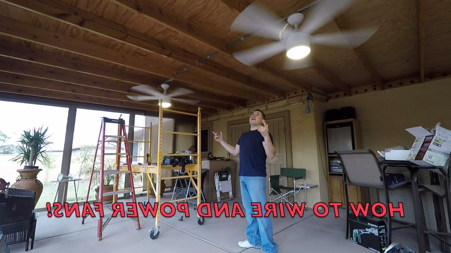 2019 Outdoor Ceiling Fan Under Deck Intended For How To Install Outside Ceiling Fans ***with Conduit*** Diy!!! – Youtube (Gallery 12 of 20)
