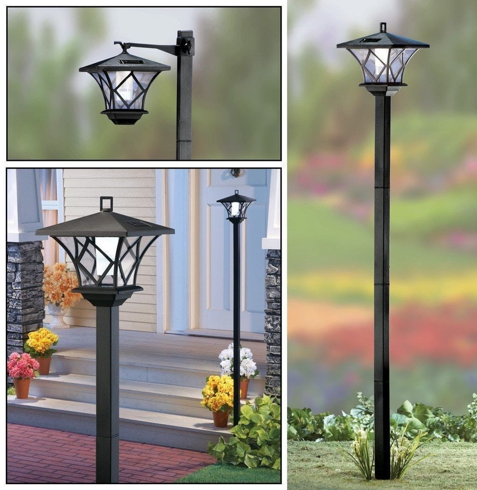 2019 Outdoor Lanterns With Remote Control Within Remote Control Outdoor Lights Elegant 5 Ft Tall Solar Powered 2 In 1 (Gallery 11 of 20)