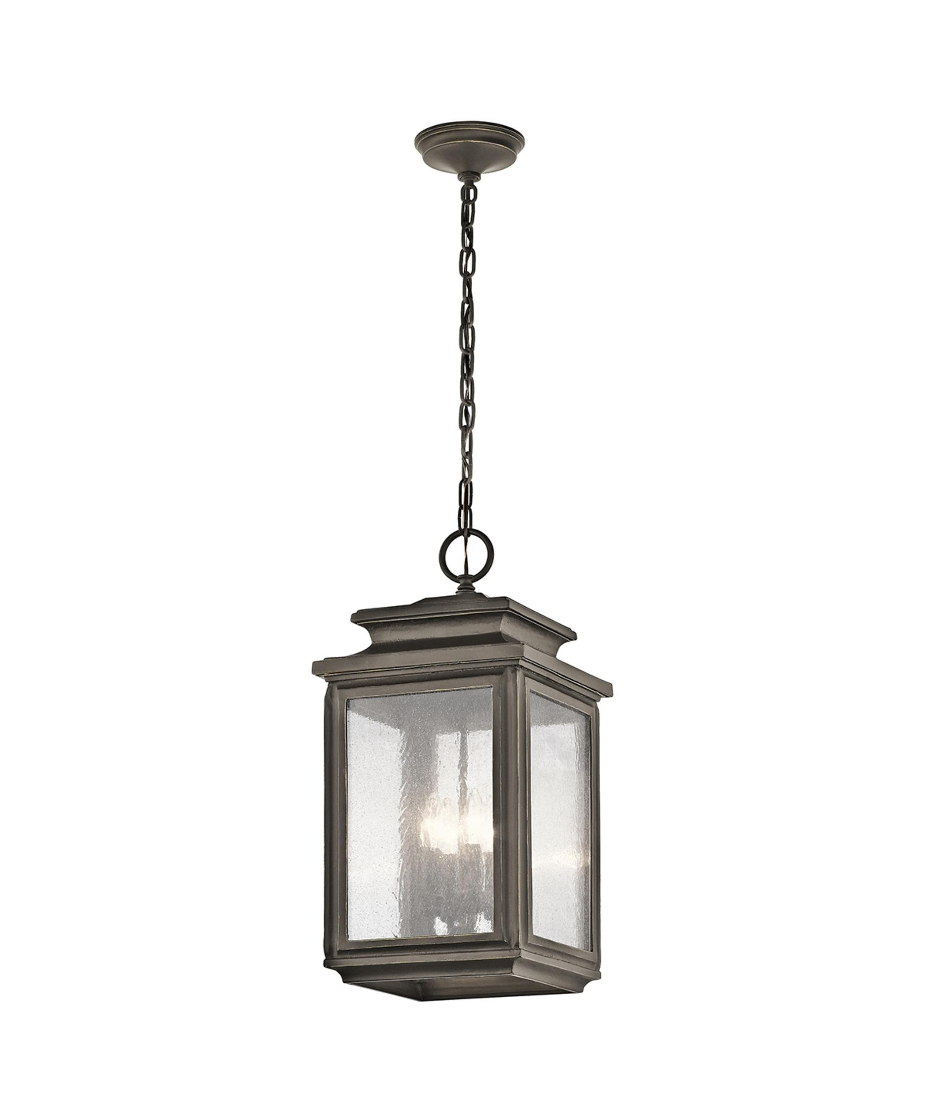 2019 Outdoor Pendant Lanterns With Kichler 49505 Wiscombe Park 11 Inch Wide 4 Light Outdoor Hanging (View 10 of 20)