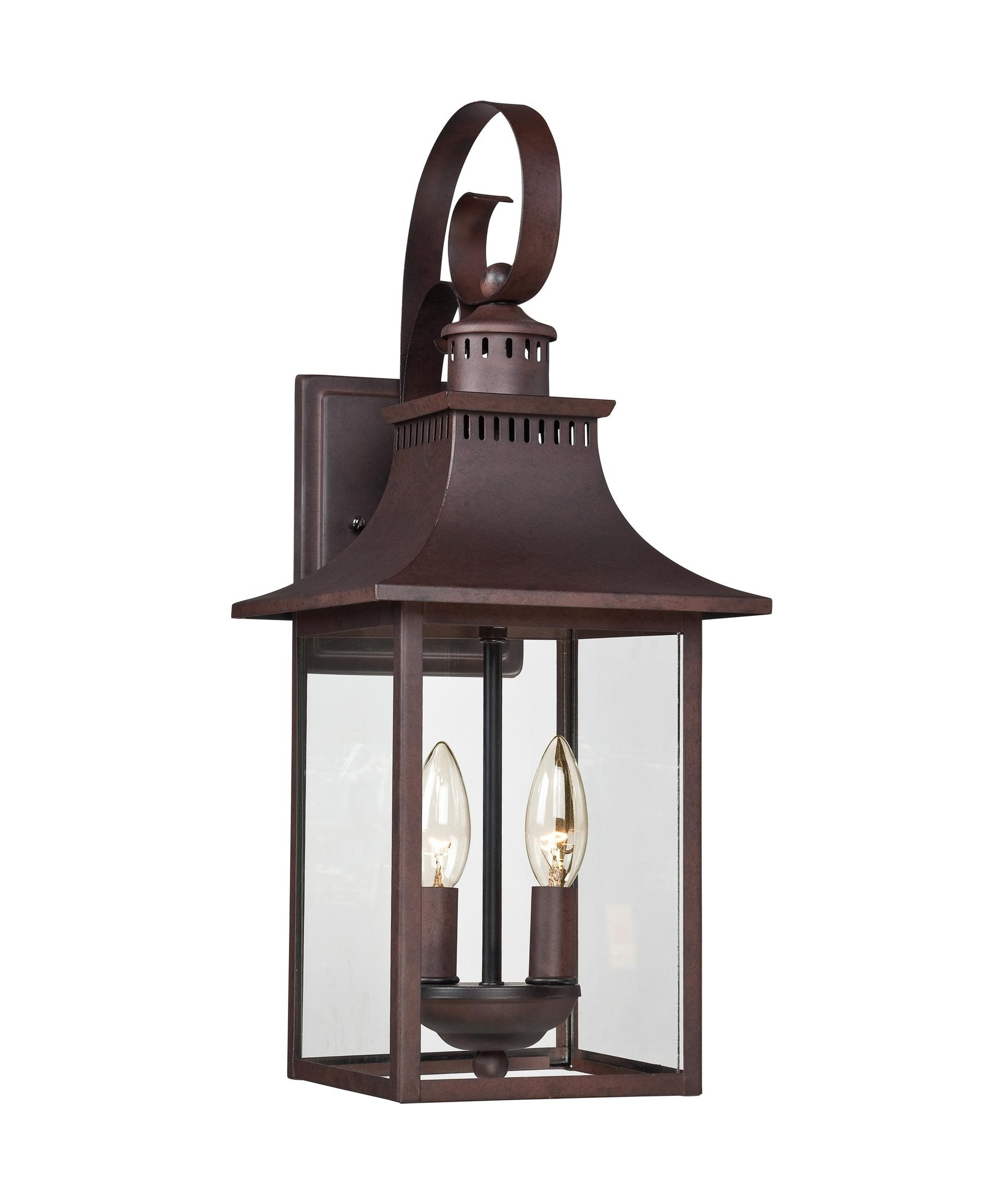 2019 Quoizel Ccr8408 Chancellor 8 Inch Wide 2 Light Outdoor Wall Light Throughout Copper Outdoor Lanterns (View 13 of 20)