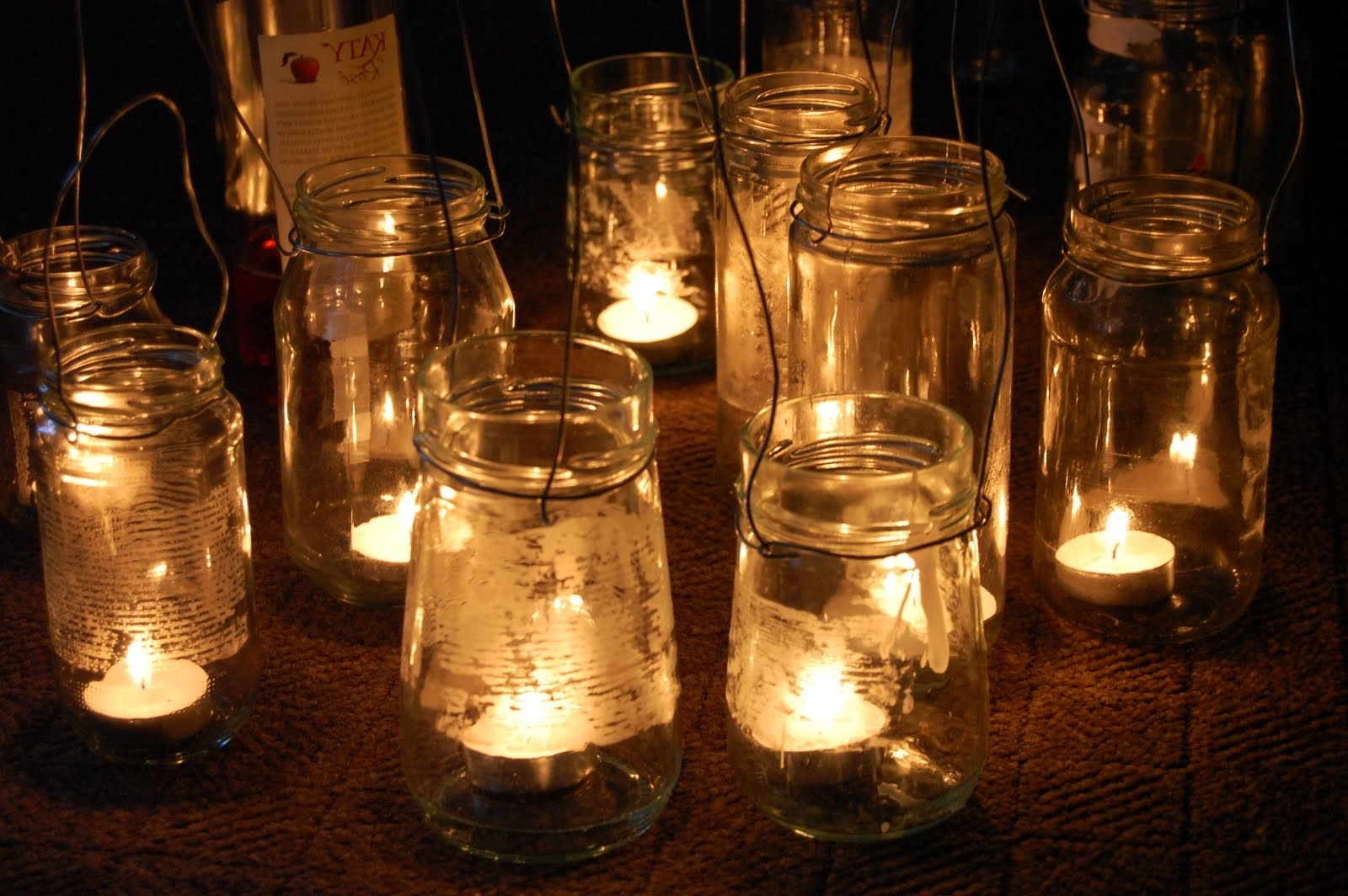 2019 Simple Diy Rustic Hanging Mason Jar Candle Holder Lanterns For Intended For Outdoor Jar Lanterns (Gallery 7 of 20)