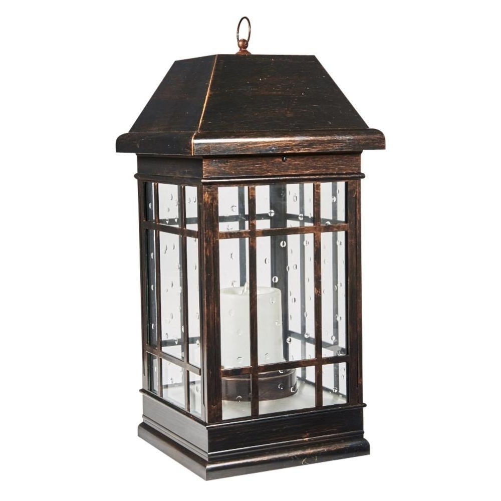 2019 Smart Solar San Rafael Estate Mission 3 Light Integrated Led Solar Pertaining To Outdoor Lanterns With Battery Candles (View 2 of 20)