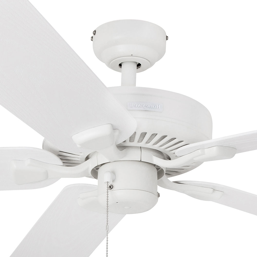 2019 White Outdoor Ceiling Fans Intended For Honeywell Belmar Outdoor Ceiling Fan, White Finish, 52 Inch – (View 11 of 20)